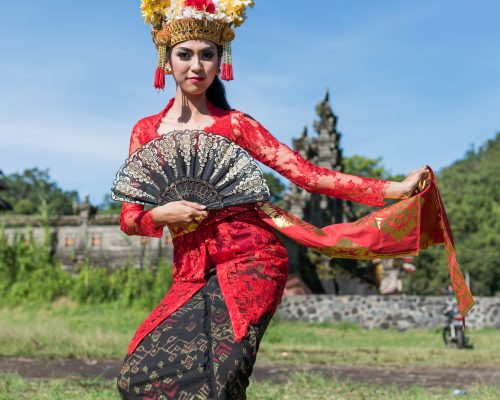 Balinese dancing Traditional Costume